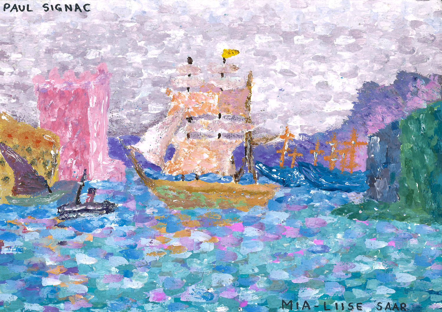 "Paul Signac ""Leaving the Port of Marseille"" / Mia-Liise Saar, 9.b klass"